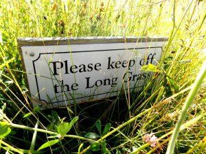 Keep off the long grass