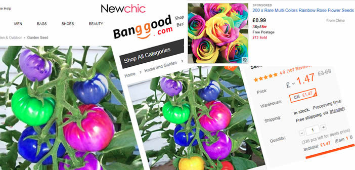 The fake Chinese rainbow seeds fooling gardeners but paying Google & eBay